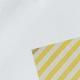 Bianco + yellow stripes